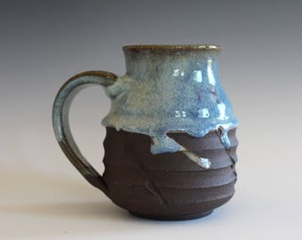 OC Pottery Coffee Mug, 16 oz, handthrown ceramic mug, stoneware pottery mug, unique coffee mug