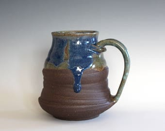 EXTRA LARGE Mug, 21 oz, handmade ceramic cup, hand thrown mug, ceramic stoneware pottery mug, unique coffee mug, ceramics and pottery