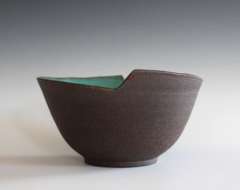 Unique Pottery Bowl, Handmade Ceramic Modern Bowl, pottery bowl, handthrown stoneware
