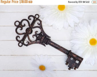 ON SALE Large Key Wall Decor/ Skeleton Key/ Vintage Style Key/ Steampunk/ Decorative Key Decor/ Shabby Chic