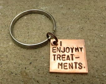 Dollhouse keychain - Treatments - Hand Stamped Key Chain -Made to Order-