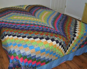 Bargello Heart King size quilt