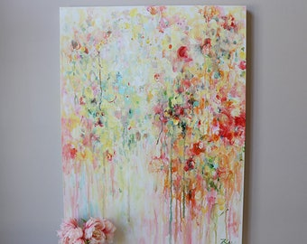 painting on canvas, Abstract painting,Original Painting,Modern art,abstract flower painting ,Wall Art