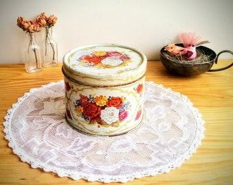 Vintage ~ Golden Corsage Body Powder ~ Collectible Tin