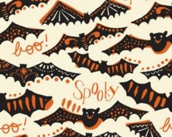 Gone Spooky in Ivory Maude Asbury Spooktacular Too Blend Fabrics Halloween One Yard