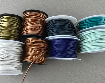 Greek Leather Cord, 1.5mm color variety