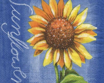 3228 - paper sunflowers 1 towel
