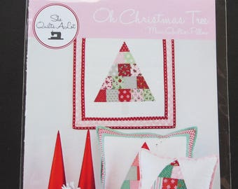 Oh Christmas Tree Pattern - Mini Quilt on Pillow Pattern- SQA16126