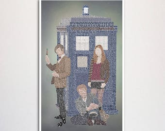 Doctor Who: Eleventh Doctor word art print - 11x17""
