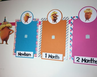 THE LORAX Inspired Photo Timeline Birthday Banner