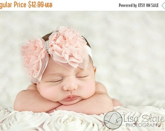 10% SALE Baby headband, newborn headband, adult headband, child headband and photography prop The single sprinkled- Ruffles headband