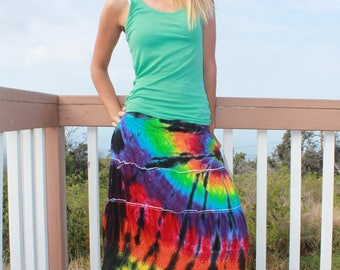 Tie Dye Tiered Skirt | Four Sizes Available!