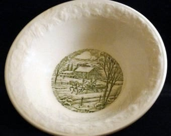 Vintage Pastoral by Homer Laughlin Coupe Cereal Bowl, 1950s