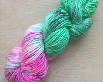 Zombie colorway superwash merino worsted weight yarn
