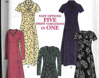 New Look 6695 Dress 5 Styles Modest Dressing Sewing Pattern UNCUT Size 10, 12, 14, 16, 18, 20, 22