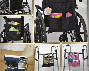 Simplicity 2822 Wheelchair Walker Lounge Chair Bags Totes Organizers Sewing Pattern
