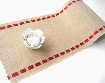 Valentine's Table Runner - Modern Rustic Table Runner - Elegant, Natural Table Decoration