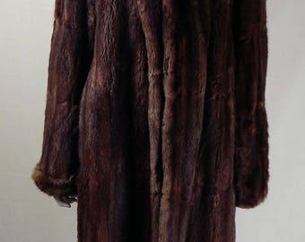 Amazing Original 1940s Mink Fur Coat UK Size 12/14
