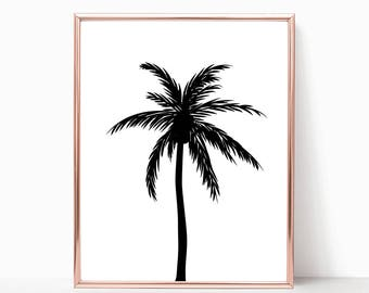 SALE -50% Palm Tree Digital Print Instant Art INSTANT DOWNLOAD Printable Wall Decor