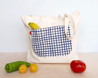 Reusable grocery bag, Large shopper bag for women, Shopper, Large tote bag for women, Ethically made reusable shopper, Farmers market bag