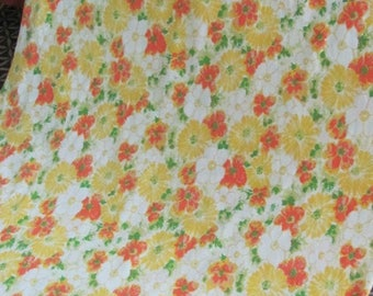 vintage 70u0027s retro daisy floral double flat sheet sears 70u0027s bedding linens