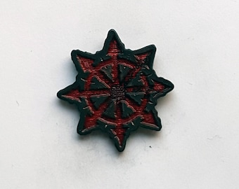 Hand Cast Warhammer Chaos Star Lapel Pin