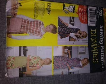 Apron sewing pattern 5525 Sewing for Dummies