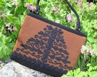 "June Savings Vintage Bag~ Rare Soure' Bag~New York City~ ""Tree Of Life""   Embellished handbag stunning CAST"