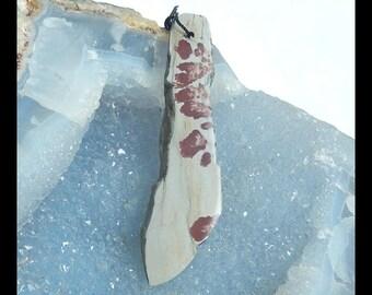Chohua Jasper Gemstone Pendant Bead,Long Pendant,34x35x11mm,24.7g(f0350)