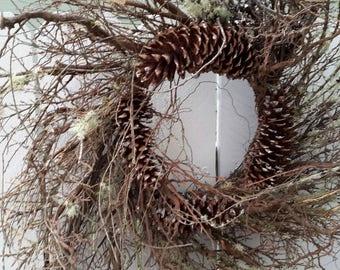 Twig Wreath Rustic Wreath  Fall Wreath Wreath Front Door Wreath Natural Wreath