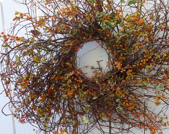 Bittersweet Wreath  Wreath   Fall Wreath   Autumn Wreath    Twig Wreath   Natural Wreath Door Wreath  Thanksgiving Decor