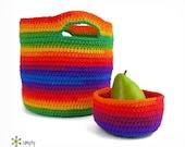 Crochet Basket Pattern crochet bowl pattern Kitchen Bath Storage