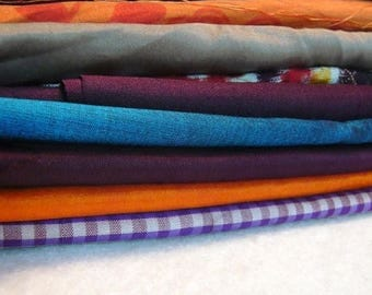 ilovesales 100% Pure Silk Fabric Grab Bag - 10 assorted Fabric scraps for Quilting, crafts