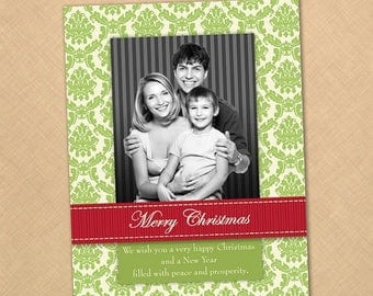 40% off Printable Christmas Holiday Photo Card //////1