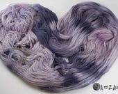 NEW! Hand Dyed Royal Baby Alpaca Yarn Sock Weight! From the Family Farm! Paining Fun! #12