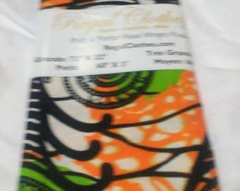 Orange Lime Swirls Ankara Tribal Print Head Wrap Gift Idea Mom Women Turban Fashion  Holiday Fashion Scarf Mothers Day Gift For Mom
