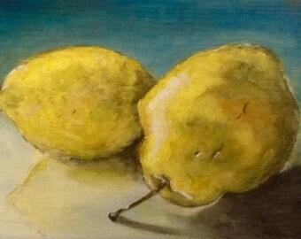 Lemon and pear