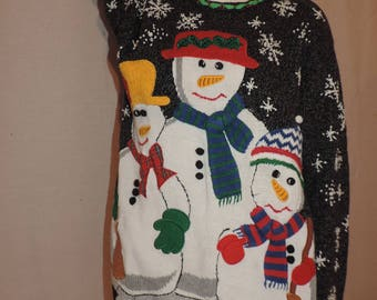 Ugly Christmas Sweater Snowman Sweater Ugly Sweater Party Chritmas Clothing Holiday Sweater Womens Christmas Sweater