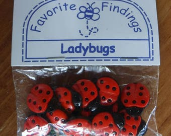 Button Pack Ladybugs