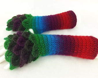 50% OFF Fingerless gloves - Arm warmers  -Fingerless Mittens - Hand warmers-Dragon Gloves