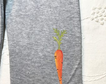 Carrot Baby pants, organic cotton, baby heather grey yoga pants, super soft and comfy