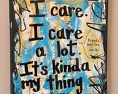 Parks and Rec Leslie Knope art painting Ron Swanson Parks and Recreation Amy Poehler tv show funny quote gift mixed media ART PRINT