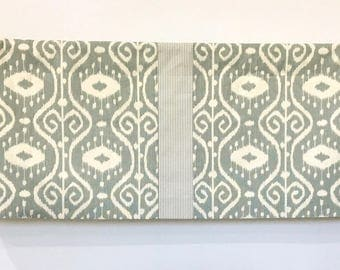 Custom Valance Green Ivory Cotton Drapery Fabric Stripe Ticking Insert Lined Rod Pocket Home Decorating