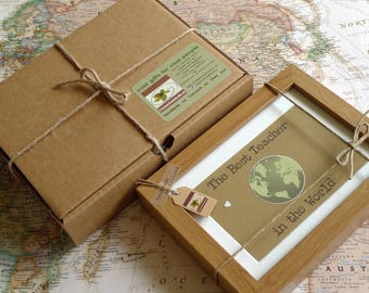 Best Teacher in the World - An Múinteoir is fearr ar domhan - Gift for Teacher - Handmade in Ireland