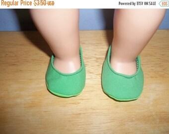 Verde claro americano zapatos de la ropa de la muñeca de 18 pulgadas con espuma verde