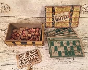 Vintage Lotto Game - Milton Bradley Bingo Game