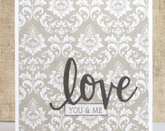 Love Card- Anniversary Card- You and Me- Wedding Anniversary- Wife Card- Cards for Her
