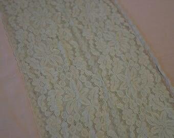 Vintage Silk & Alencon Lace King Size Bedspread Fabulous Peach, Ecru Lace,Could be Taken Apart to make Two
