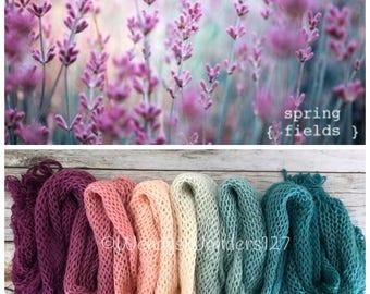 Gradient Yarn, Hand Dyed Yarn, Yarn, Fingering Weight Yarn, Spring Flower Fields