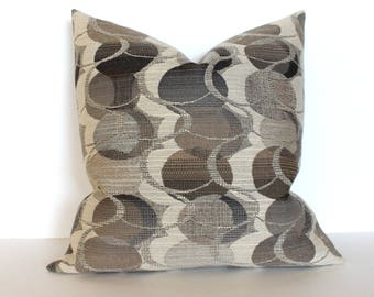 Grey Pillow Cover Taupe Pillow Oval Upholstery Fabric Decorative Pillow Throw Pillow Cover Euro Sham 26x26 24x24 22x22 20x20 18x18 16x16